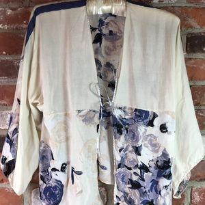Cropped kimono size small